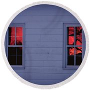 Sunset In The Windows Round Beach Towel
