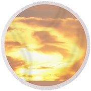 Sunset Jesus Round Beach Towel