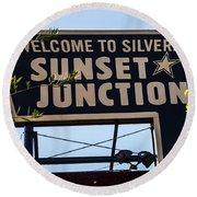 Sunset Junction Round Beach Towel
