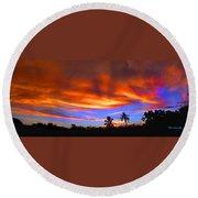Sunset Key Largo Filtered Round Beach Towel