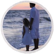 Sunset Kids Round Beach Towel