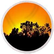 Sunset Landscape Round Beach Towel