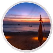 Sunset Lanta Island  Round Beach Towel