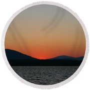 Sunset Lines Of Lake Umbagog  Round Beach Towel