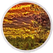 Sunset Navajo Tribal Park Canyon De Chelly Round Beach Towel