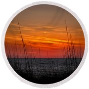 Sunset Number One Round Beach Towel