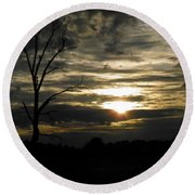 Sunset Of Life Round Beach Towel