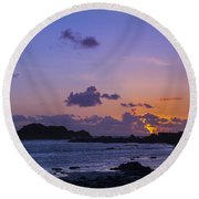 Sunset On Guernsey Round Beach Towel