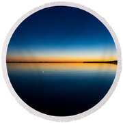 Sunset On Lake Mille Lacs Round Beach Towel