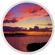 Big Island Sunset - Hawaii Round Beach Towel