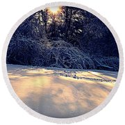 Sunset On The Briar Patch Round Beach Towel