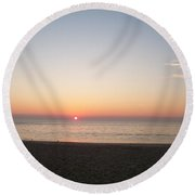 Sunset On The Delaware Sunset Beach Round Beach Towel