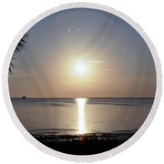 Sunset On The Gulf Of Mexico Round Beach Towel