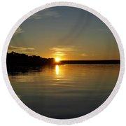 Sunset On The Zambezi 2 Round Beach Towel