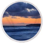 Sunset Over Dana Point Round Beach Towel