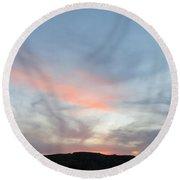 Sunset Over Monhegan Round Beach Towel