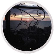 Sunset Over Puerto Vallarta Round Beach Towel