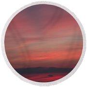 Sunset Over Shustoke Round Beach Towel
