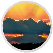 Sunset Over Southern Ohio Round Beach Towel