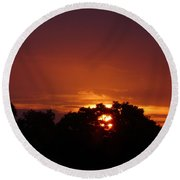 Sunset Over Sutton Surrey Round Beach Towel