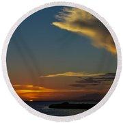 Sunset Over The Laguna Madre Round Beach Towel