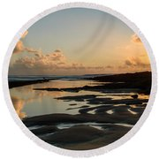 Sunset Over The Ocean IIi Round Beach Towel