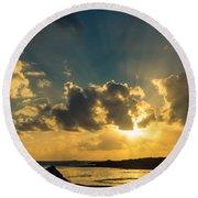 Sunset Over The Ocean Iv Round Beach Towel