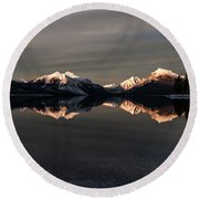 Sunset Peaks Round Beach Towel