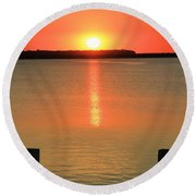 Sunset Reflections Round Beach Towel