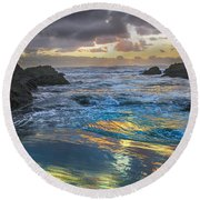 Sunset Reflections Round Beach Towel by Robert Bales