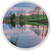Sunset Reflections Square Round Beach Towel