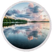 Sunset Relections Round Beach Towel