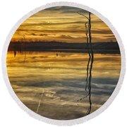 Sunset Riverlands West Alton Mo Dsc03317 Round Beach Towel