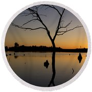 Sunset Riverlands West Alton Mo Portrait Dsc06670 Round Beach Towel