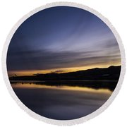 Sunset Riverscape Round Beach Towel