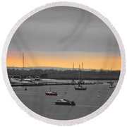 Sunset Romance Round Beach Towel