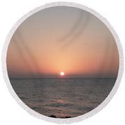 Sunset Sail Round Beach Towel