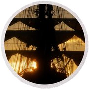 Sunset Sails Round Beach Towel