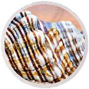 Sunset Seashell Round Beach Towel
