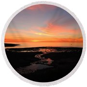 Field River, Hallett Cove Round Beach Towel