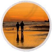 Sunset Stroll Round Beach Towel by Al Powell Photography USA