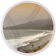Sunset Surf Round Beach Towel