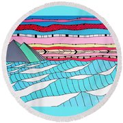 Sunset Surf Round Beach Towel by Susan Claire