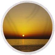 Sunset Swim Round Beach Towel