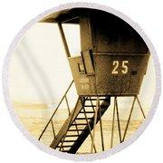 Sunset Tower 25 Round Beach Towel