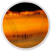 Sunset Tupper Lake Round Beach Towel