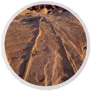 Sunset Valley Of Fire State Park Nevada Round Beach Towel