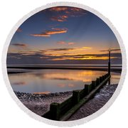 Sunset Wales Round Beach Towel by Adrian Evans