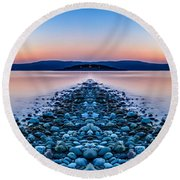 Sunset Way Round Beach Towel