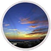 Sunset X Round Beach Towel